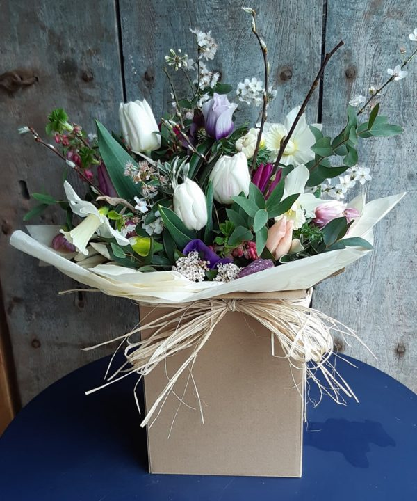 Large Bouquet Wrapped with Bow
