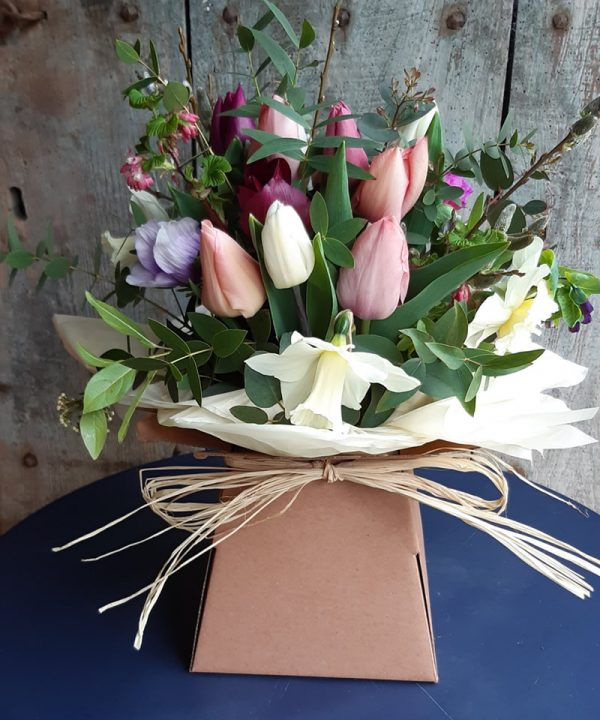 Medium Bouquet Wrapped with Bow